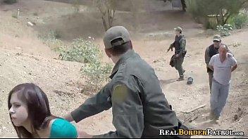 Border Gaurd Blackmailed i. Mexican Nymphomaniac