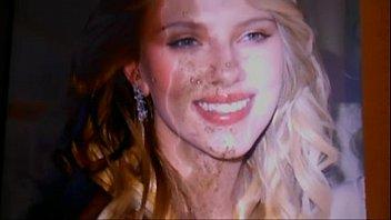 My huge cum tribute to Scarlett Johansson 3