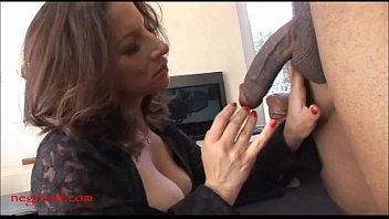 Negroed.com mature old mom with too much makeup takes black negro
