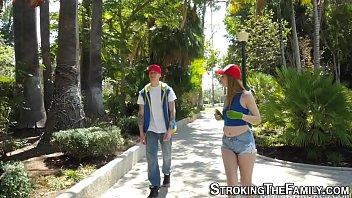 Sexy teen sucks stepbro