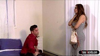 Busty ts Jessy Dubai makes ex suck her dick n anal fucks him