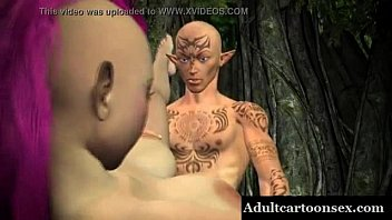 3D Punk Elf Babe Getting Fucked Outdoors