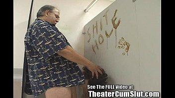 Kassy Sucks Cock in Bookstore Men's Room For Cumshots