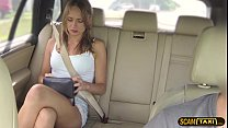 Babe Ivana gets a big cock in the cab and awarded a hot cum