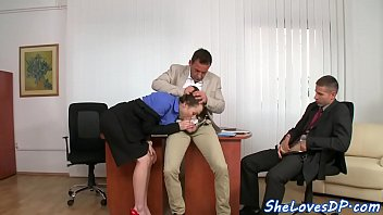 DP screwed business woman loves high heels