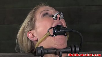 Bound bdsm sub punished in pillory by maledom 7 min