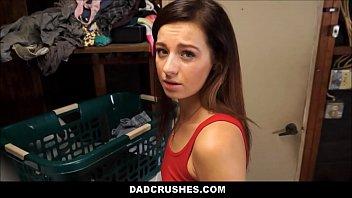 Dad Fucks His Tiny Step Daughter On Clothes Washing Machine POV