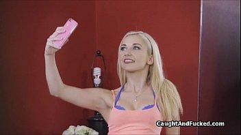 Roomie caught doing nude selfies
