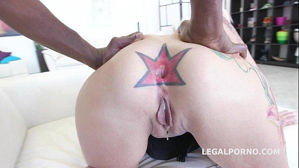 Tattooed Milf Anal whore Candela X gets rough Balls Deep interracial Fuck