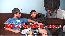 Hot Latino 3 way fucking sucking
