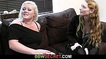His wife leaves and he fucks blonde plumper