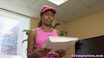 Ebony teen jizzed in mouth after blowjob 8 min
