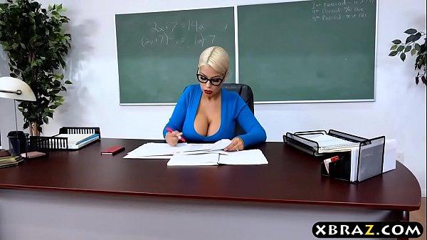 Huge tits latina teacher jerks and fucks a student 7 min