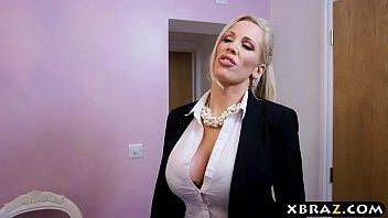 Huge boobs MILF ass rammed by her big dick masseur