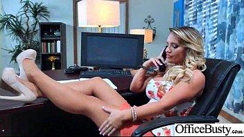 Office Horny Girl (Cali Carter) With Big Melon Tits Enjoy Hard Bang mov-14