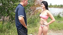 Teen Lucy fucks a fake police officer