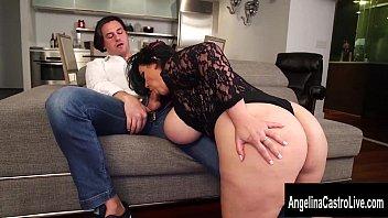 Cuban Italian Pornstar Threesome with Angelina Castro 9 min