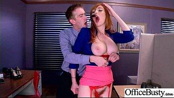(Lauren Phillips) Round Huge Tits Office Girl Enjoy Hard Intercorse clip-17