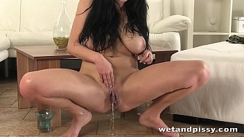 Babe with big tits named Shione gets pissy