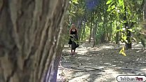 Hot babe Kate gets fucked in the forest