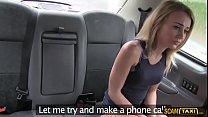 Horny Carmel appreaciates doggystyle pounding inside the taxi