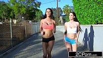 Running Buddies Noelle Easton & Peta Jensen Are Horny For Outdoor Lesbian Sex