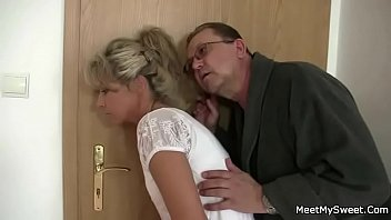 Parents trick their son's GF into 3some sex 6 min
