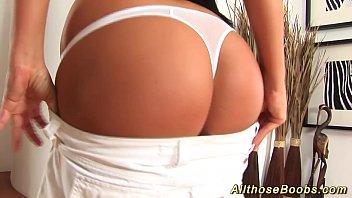 hot Christina Jolie shows her massive boobs