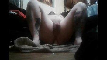Chubby bottom riding dildo