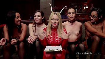 Orgy anal slaves serve costume ball