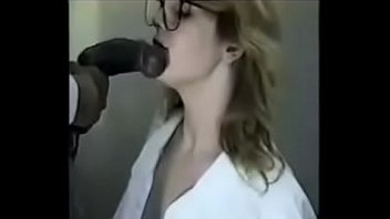 Milf sucking on a monster