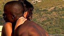 Ebony Lovers Learn Exotic Sex 8 min