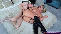 Busty anal queen in slutty outfit gets rough anal fuck