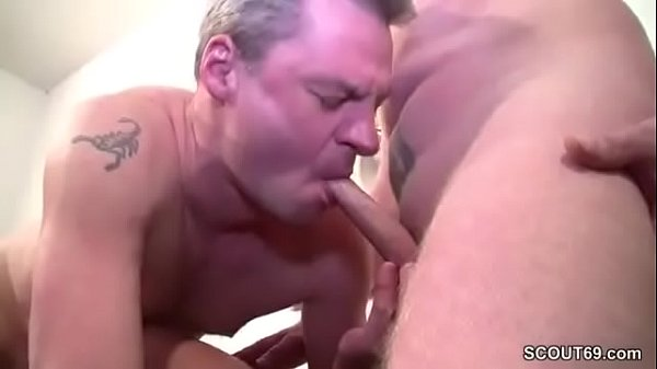 German Mom in Real Casting with Two Stranger Men