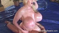Big Oily Boobs loves playing