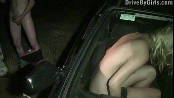 Cute y. blondie public sex gang bang orgy through a car window 11 min