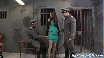 Double penetrated petite gets drilled hard
