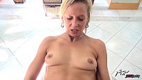 Povbitch Horny milf blonde suck cock until cum in her mouth and swallow