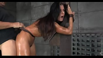 Slut gets tied and fucked and receives a creampie
