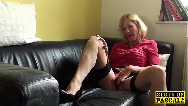 Squirting brit granny throatfucked 10 min