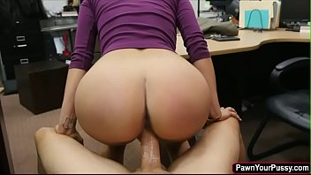 Brunette Jessi fucked by a huge dick