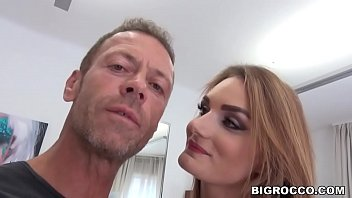 Curvy french babe got assfucked at Rocco's apartment - Marie Clarence 6 min