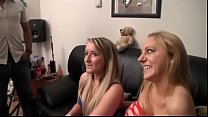 Foursome sex with two hot french sluts