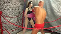 UIWP ENTERTAINMENT in MMA Belly Punching Match man vs women INTERGENDER Match! See full video here www.clips4sale.com/89258