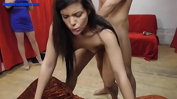 Amateur dancer fucked in doggy style