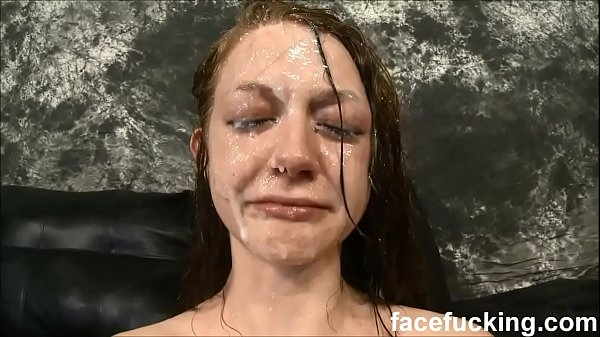 Skinny slut cries after b. face fucking and slapping 10 min