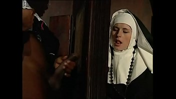 Dirty nun eager for a big black cock 11 min