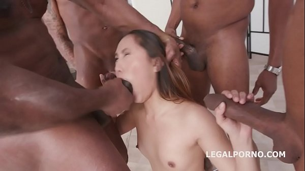 Asian pop-tart Mai Thai gets a 4on1 Blackbuster Treatment and Loves it!