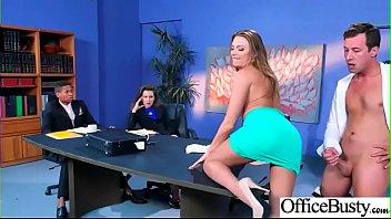 Hardcore Sex In Office With Big Round Tits Slut Girl (Juelz Ventura) clip-16