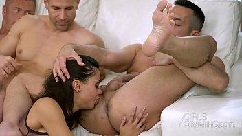 Colombian Pornstar Canela Skin Ass Licking 3 Guys - Girls Rimming